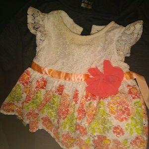 Baby girl 0-3mo Nicole Miller dress& headband